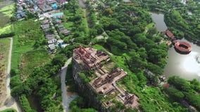 Aerial view of Mueang Boran Ancient Siam cultural park in Bangkok