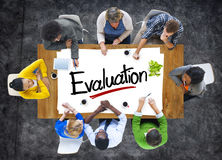 Aerial View of Multiethnic Group with Evaluation Concept Royalty Free Stock Photo