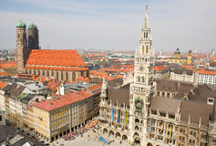 Aerial view of Munchen (Bavaria, Germany) Stock Photo