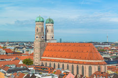 Aerial view of Munchen  Marienplatz Stock Photo