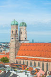 Aerial view of Munchen  Marienplatz Royalty Free Stock Images
