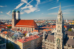 Aerial view of Munchen Royalty Free Stock Photography