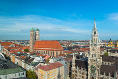 Aerial view of Munchen Stock Photography