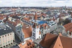 Aerial view Munich stock photo