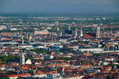 Aerial view of Munich. Munich, Bavaria, Germany royalty free stock images