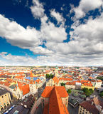 The aerial view of Munich city cente Stock Photos