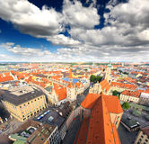 The aerial view of Munich city cente Royalty Free Stock Photo