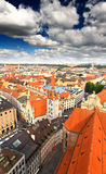 The aerial view of Munich city cente Royalty Free Stock Photos