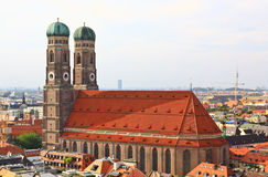 The aerial view of Munich city center Stock Images