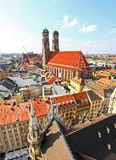 The aerial view of Munich city center Stock Image