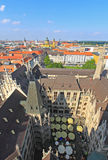 The aerial view of Munich city center Royalty Free Stock Images