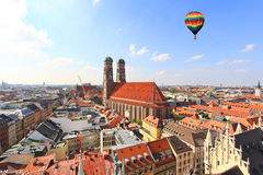 The aerial view of Munich city center Royalty Free Stock Photography