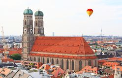The aerial view of Munich city center Royalty Free Stock Photo