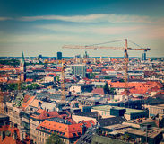 Aerial view of Munich with construction site Royalty Free Stock Image