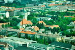 Aerial view of Munich, Germany Royalty Free Stock Photos