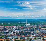 Aerial view of Munich. Munich, Bavaria, Germany Royalty Free Stock Image