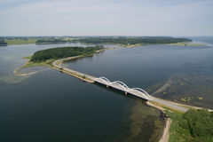 Aerial view of Munkholm bridge, Denmark Stock Photo