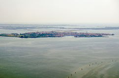 Aerial view of Murano, Venice Stock Images
