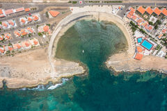Aerial view of Murdeira city resort bay  in Sal Island - Cape Ve Stock Photos