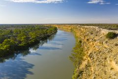 Aerial view of Murray River in South Australia royalty free stock photo