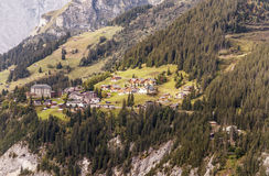 Aerial view of Murren Stock Image