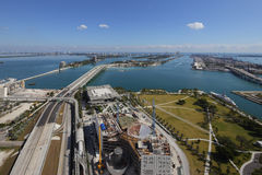 Aerial view Museum Park Downtown Miami Stock Images
