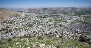Aerial view of Nablus Royalty Free Stock Photography