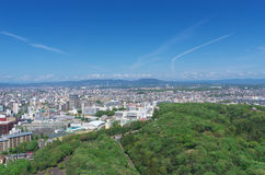 Aerial view of Nagoya Meito-ku Stock Photography