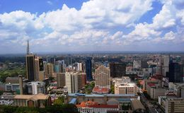 Aerial view of Nairobi Kenya Royalty Free Stock Image