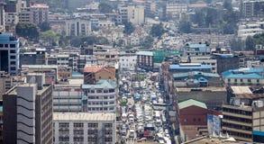 Aerial view of Nairobi, Kenya stock images