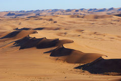 Aerial View of the Namib Desert Royalty Free Stock Images