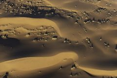 Aerial view of Namib desert sand dunes. In the early morning light, Sossusvlei, Namibia royalty free stock photography