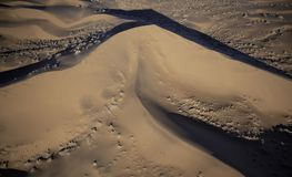 Aerial view of Namib desert sand dunes. In early morning light royalty free stock images