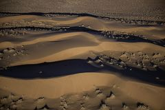 Aerial view of Namib desert sand dunes. Taken in early morning light to show the details in the sand stock photos