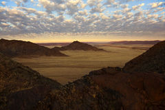 Aerial view - Namib-Nauklft Desert - Namibia. Aerial view at dawn of the Namib-Nauklft Desert near Sossusvlei in Namibia Royalty Free Stock Image