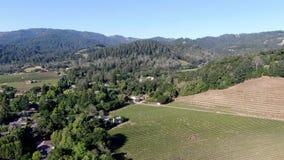 Aerial view of Napa Valley vineyard landscape