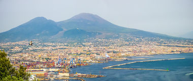Aerial view of Naples, Campania, Italy Stock Image