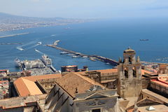 Aerial view of Naples city Stock Photography