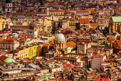 Aerial view of Naples City Royalty Free Stock Photography