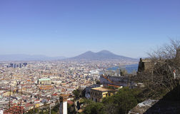 aerial view of naples Royalty Free Stock Images