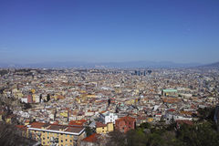 aerial view of naples Royalty Free Stock Image