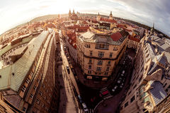 Aerial view of the narrow streets. Prague old town, Czech Republ Stock Images
