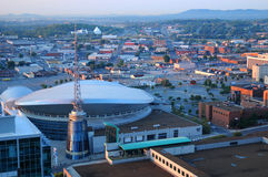 Aerial view of Nashville. An aerial view of the city of Nashville, Tennessee, USA stock images