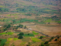 Aerial view of Nasik landscape Stock Photo