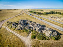 Aerial view of Natural Fort in Colorado Stock Photo