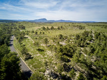 Aerial view of the nature of the south of France Royalty Free Stock Image