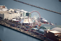 Aerial View of Navy Pier royalty free stock image