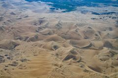 Aerial View of the Nazca Desert. Not far from Nazca, Peru royalty free stock photography