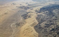 Aerial View of the Nazca Desert. Not far from Nazca, Peru stock images