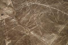 Aerial view Nazca Lines of the Condor, Peru. Stock Image